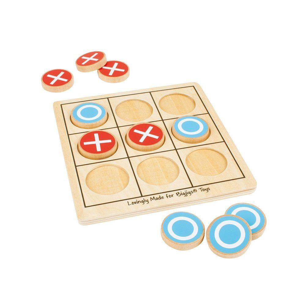 Joc de societate X și O din lemn imagine edituradiana.ro
