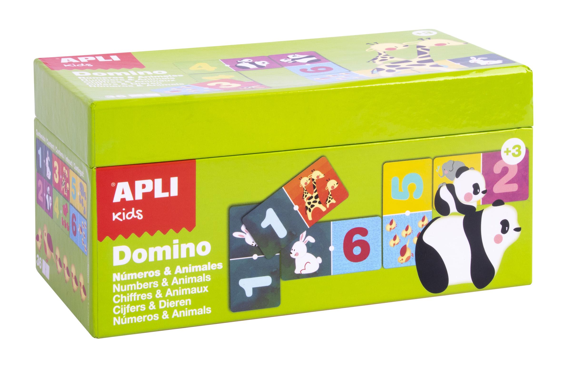 Joc domino cu 36 de piese - Numere și animale imagine edituradiana.ro