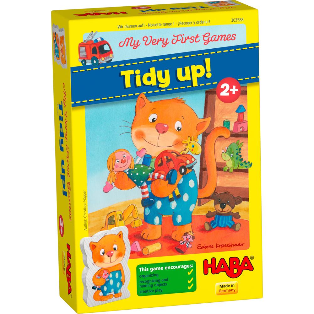 Joc educativ cu 21 de piese din carton și o figurină din lemn - Aranjăm jucăriile imagine edituradiana.ro