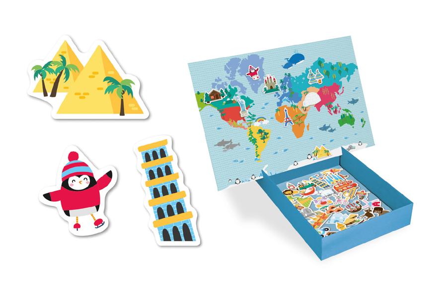 Joc Educativ Magnetic Harta Lumii