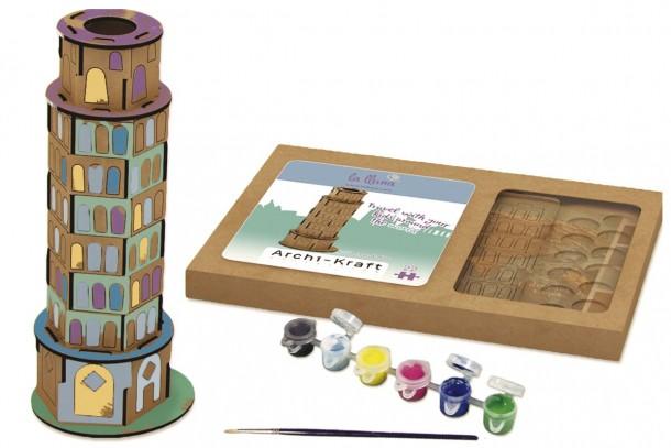 Joc pentru asamblat si pictat - Turnul din Pisa