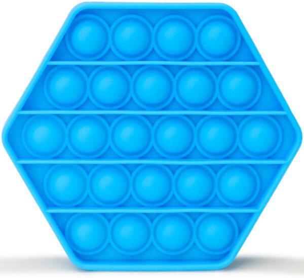 Jucărie senzorială antistress- Pop-it albastru, 13 cm imagine edituradiana.ro