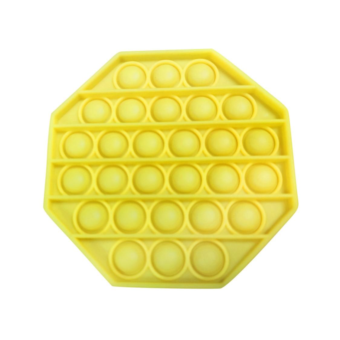 Jucărie senzorială antistress- Pop-it galben, 13 cm imagine edituradiana.ro