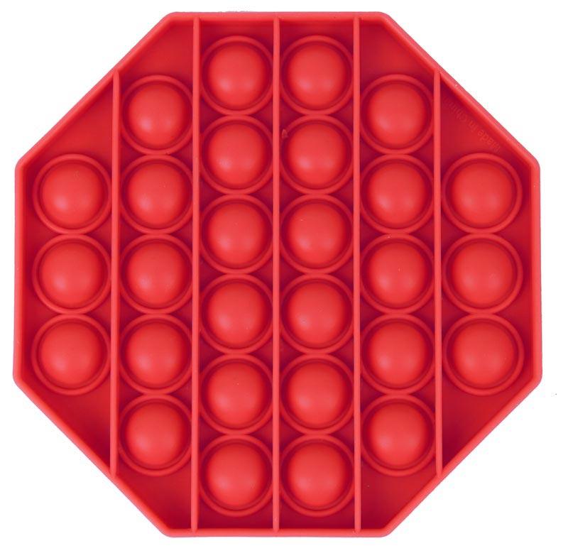 Jucărie senzorială antistress- Pop-it roșu, 13 cm imagine edituradiana.ro