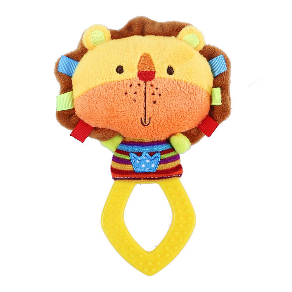 Jucărie din pluș cu accesoriu pentru dentiție - Leu imagine edituradiana.ro