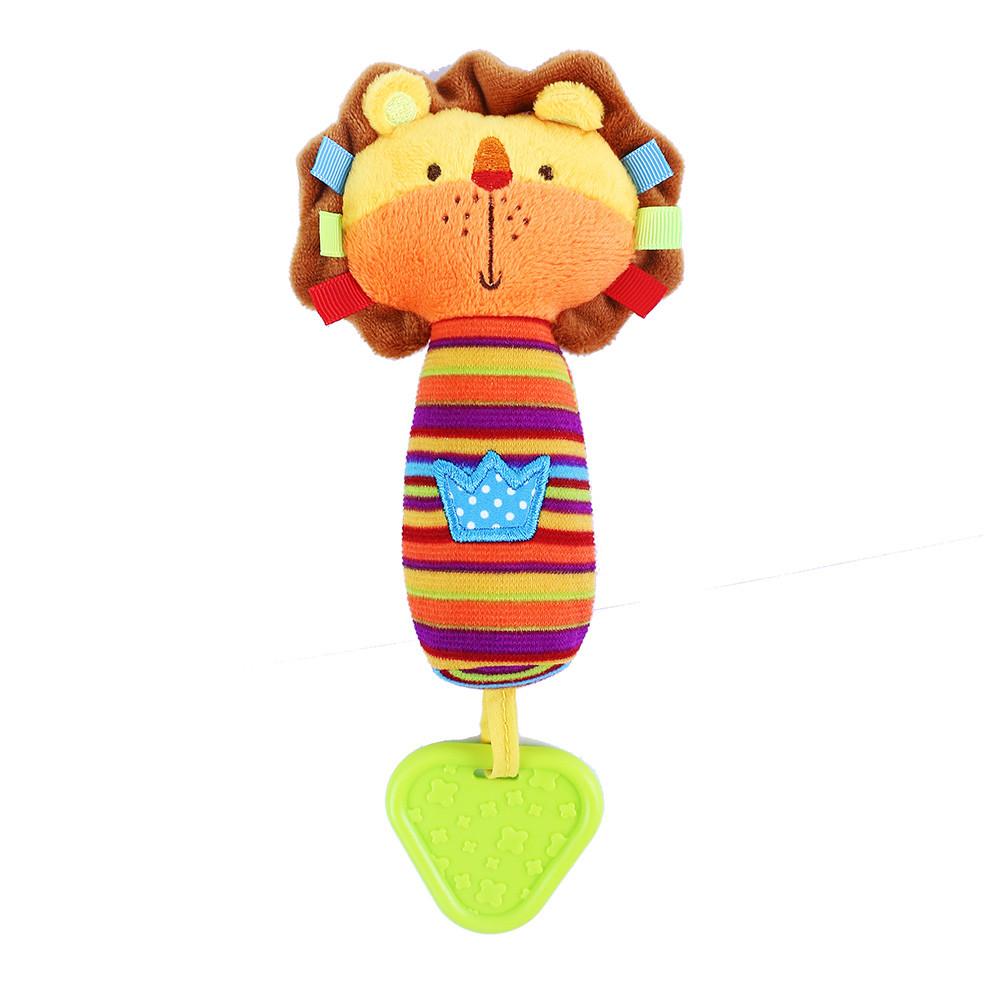Jucărie din pluș cu sunet și accesoriu pentru dentiție - Leu imagine edituradiana.ro