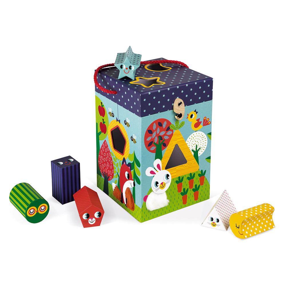 Jucărie tactilă din carton pentru sortat forme imagine edituradiana.ro