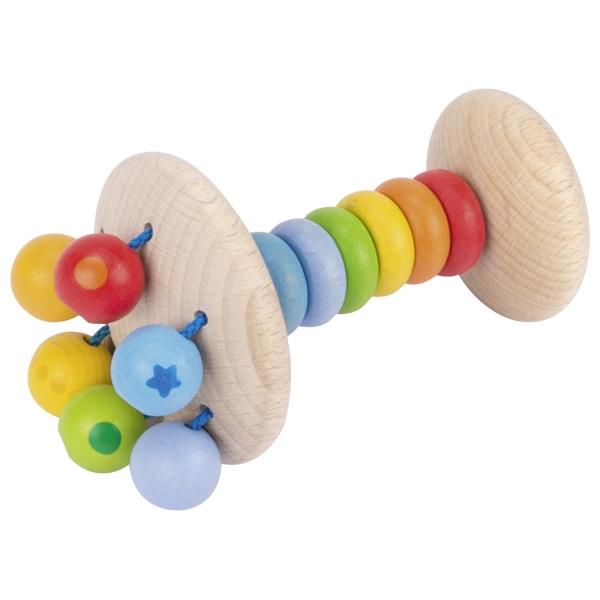Jucărie tactilă elastică din lemn pentru bebeluși - Curcubeu imagine edituradiana.ro