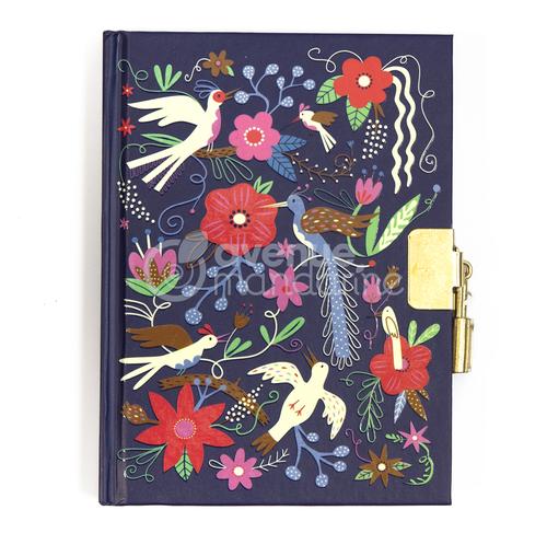 Jurnal secret cu lacăt și cheițe - Păsări și flori imagine edituradiana.ro