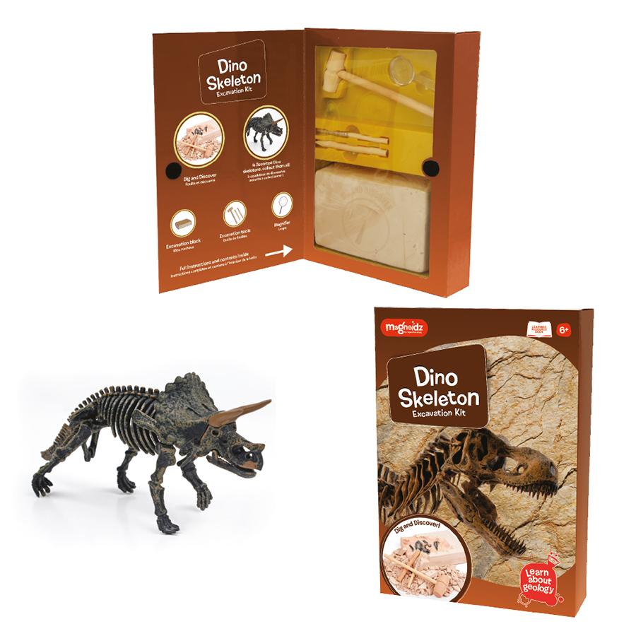 Set de experimente - Sapă și descoperă scheletul dinozaurului imagine edituradiana.ro