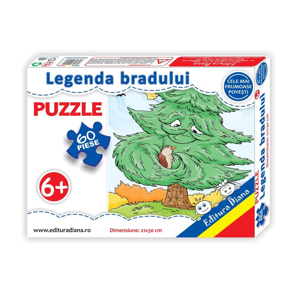 Legenda bradului - Puzzle 60 piese imagine edituradiana.ro