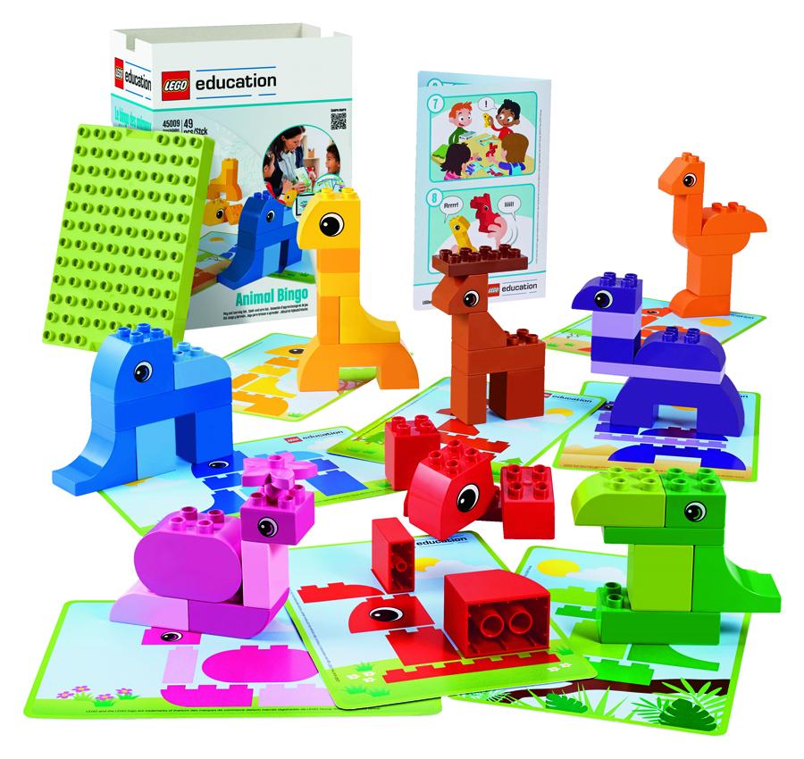 Set Lego Duplo cu 49 de piese și carduri cu modele - Animale imagine edituradiana.ro