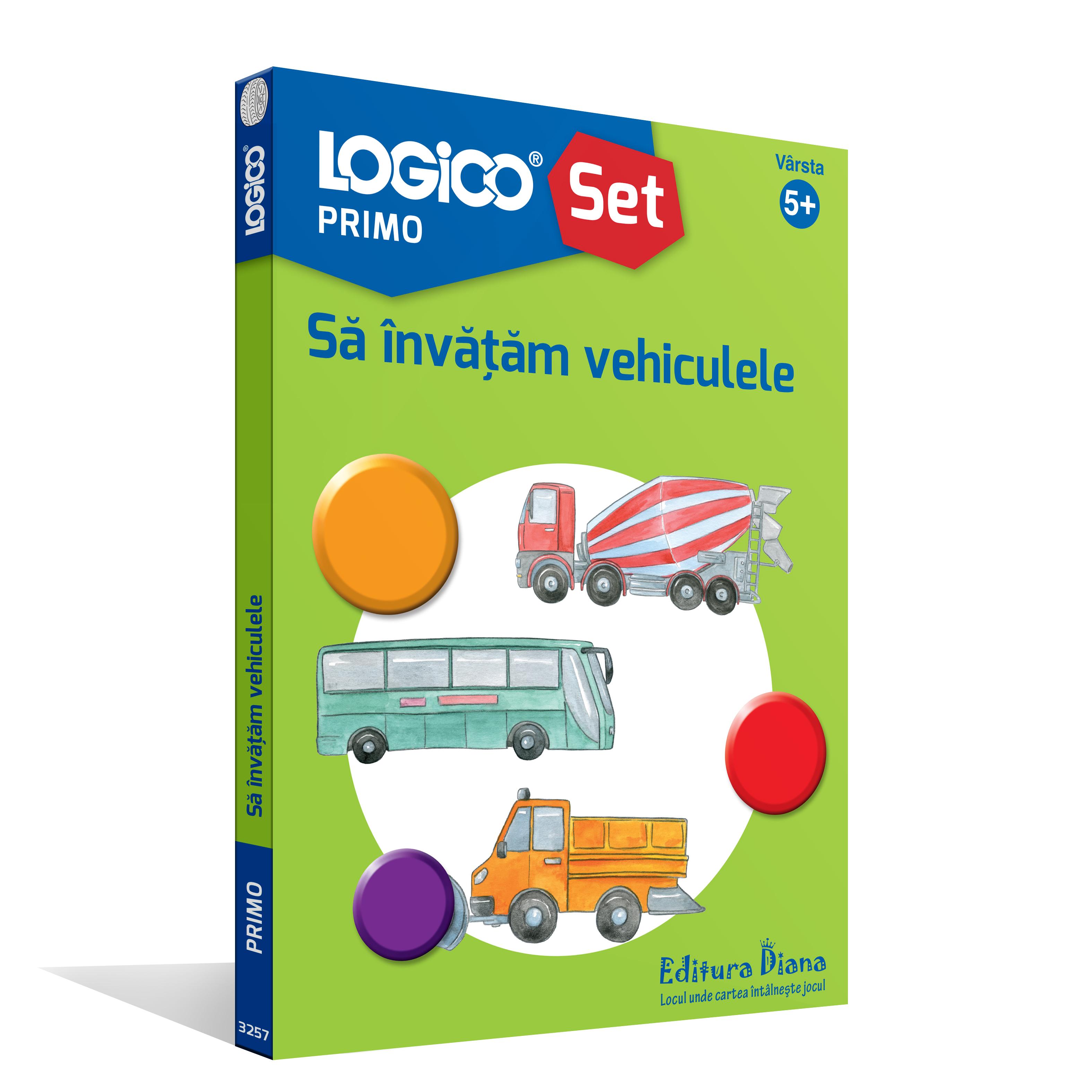 LOGICO PRIMO - SET CU RAMĂ - Să învățăm vehiculele (5+) imagine edituradiana.ro