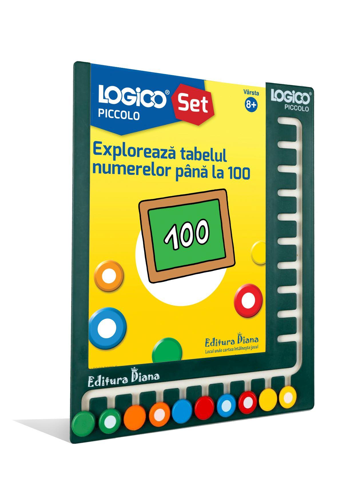 LOGICO PICCOLO - SET CU RAMĂ - Explorează tabelul numerelor până la 100 (8+) imagine edituradiana.ro