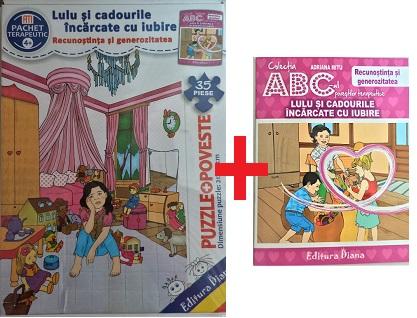 Lulu și cadourile încărcate cu iubire - Set Puzzle + poveste terapeutică imagine edituradiana.ro