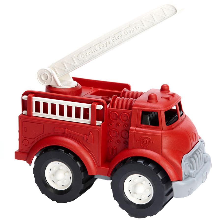 Mașină de pompieri cu scară de incendiu rotativă, din plastic reciclat imagine edituradiana.ro