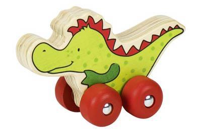 Mașinuță de lemn - Dinozaur imagine edituradiana.ro