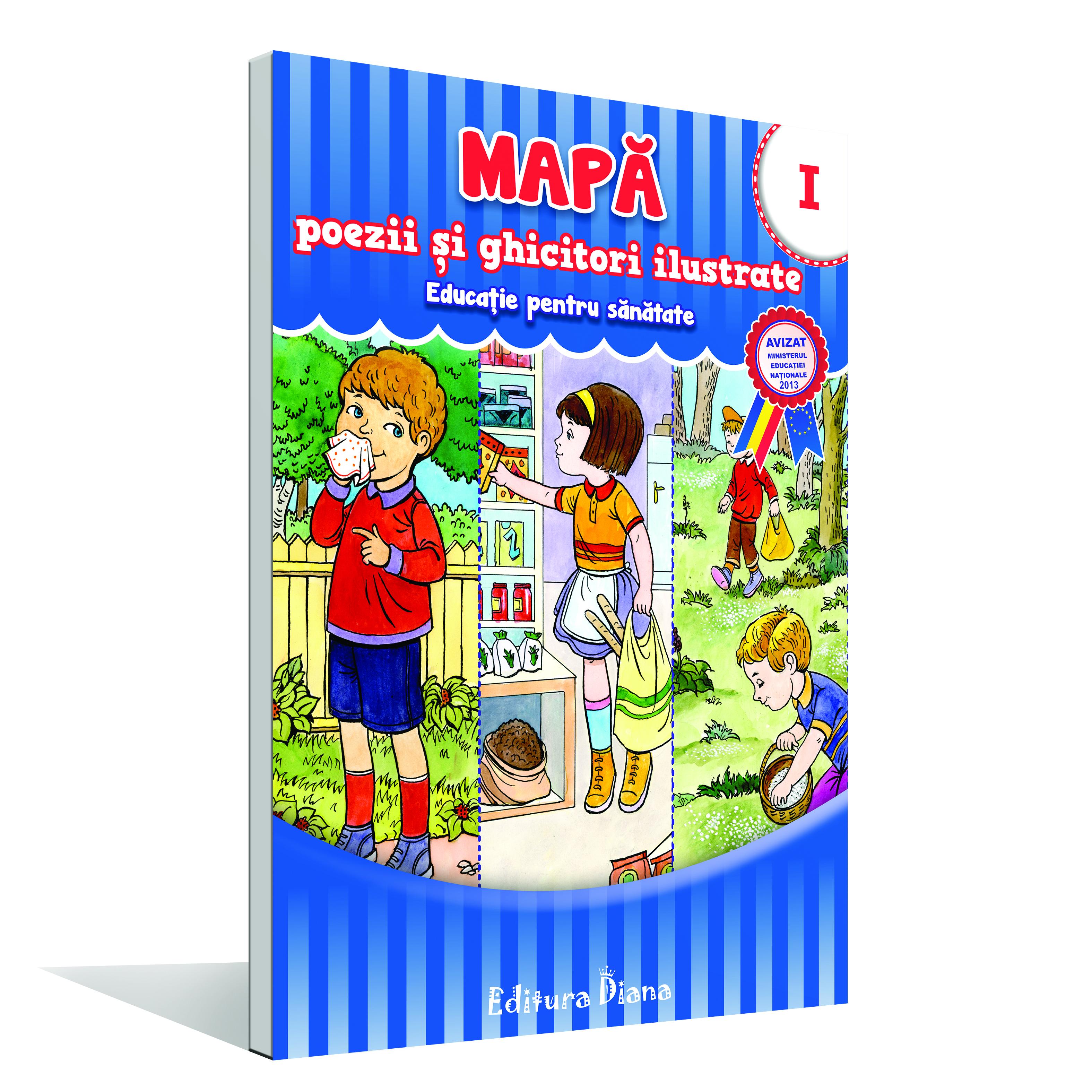 Mapă poezii și ghicitori ilustrate - Vol. I - educație pentru sănătate imagine edituradiana.ro