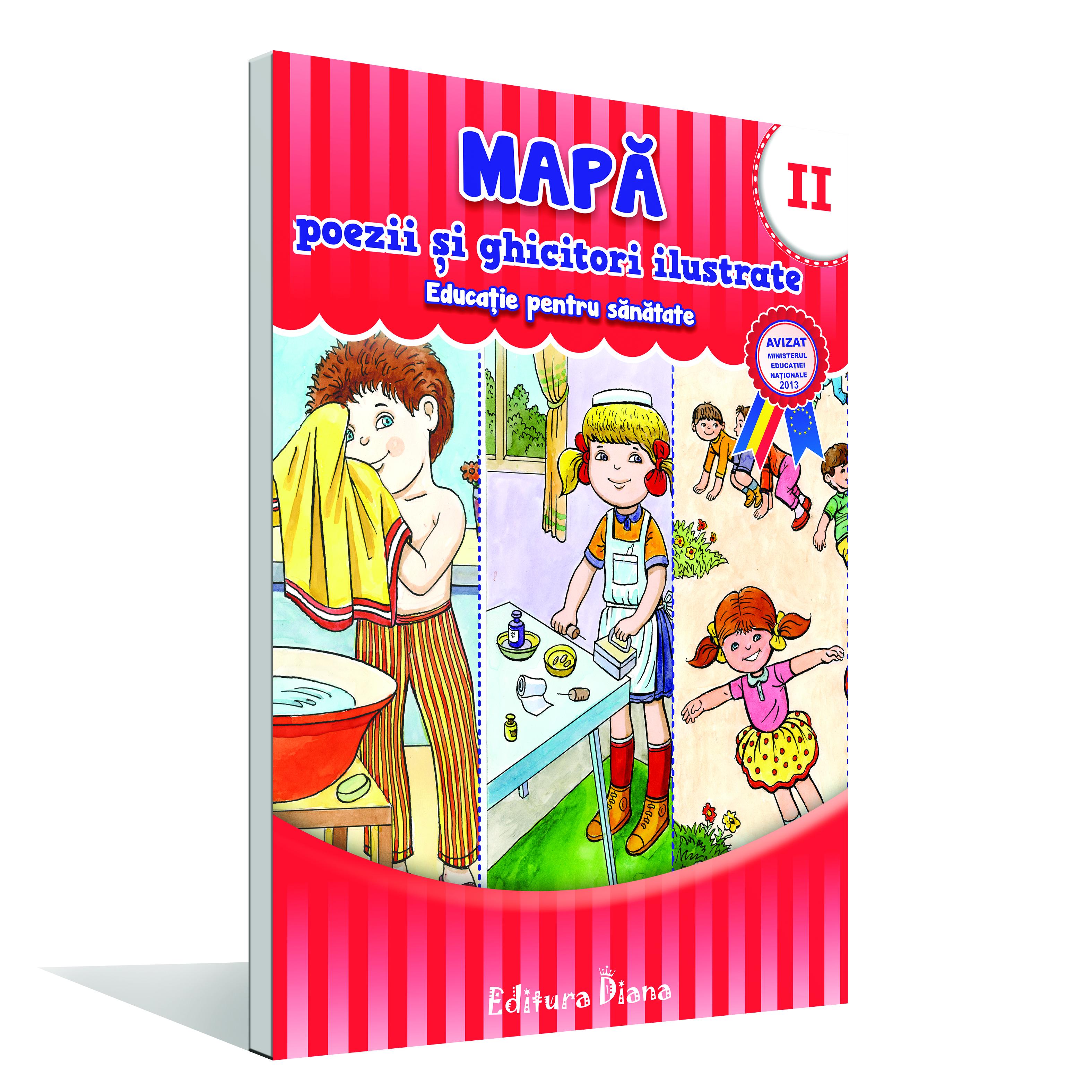 Mapă poezii și ghicitori ilustrate - Vol. II - educație pentru sănătate imagine edituradiana.ro