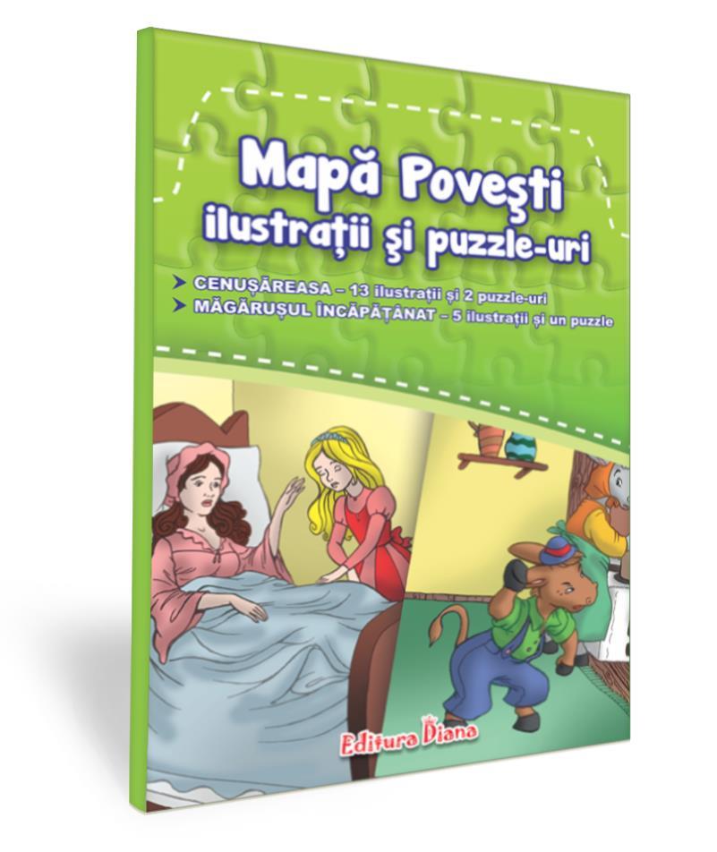 Mapă povești - ilustrații și puzzle-uri - 1 imagine edituradiana.ro
