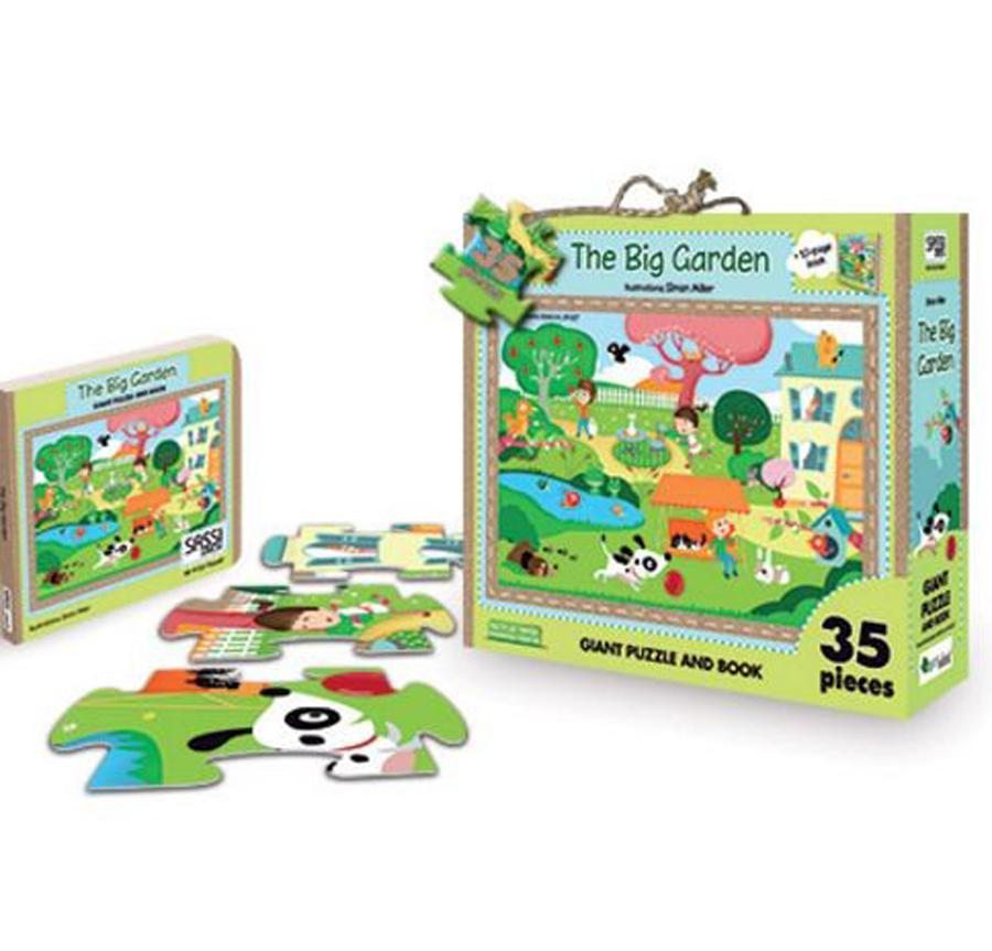Marea grădină - Puzzle uriaș și carte imagine edituradiana.ro