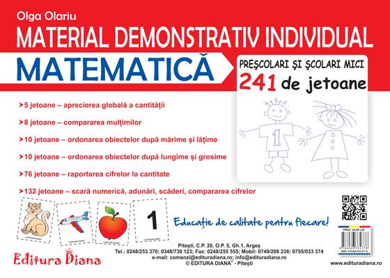 Material demonstrativ individual - Matematică - 241 de jetoane imagine edituradiana.ro
