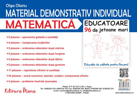 Material demonstrativ individual - Matematică - 96 de jetoane imagine edituradiana.ro