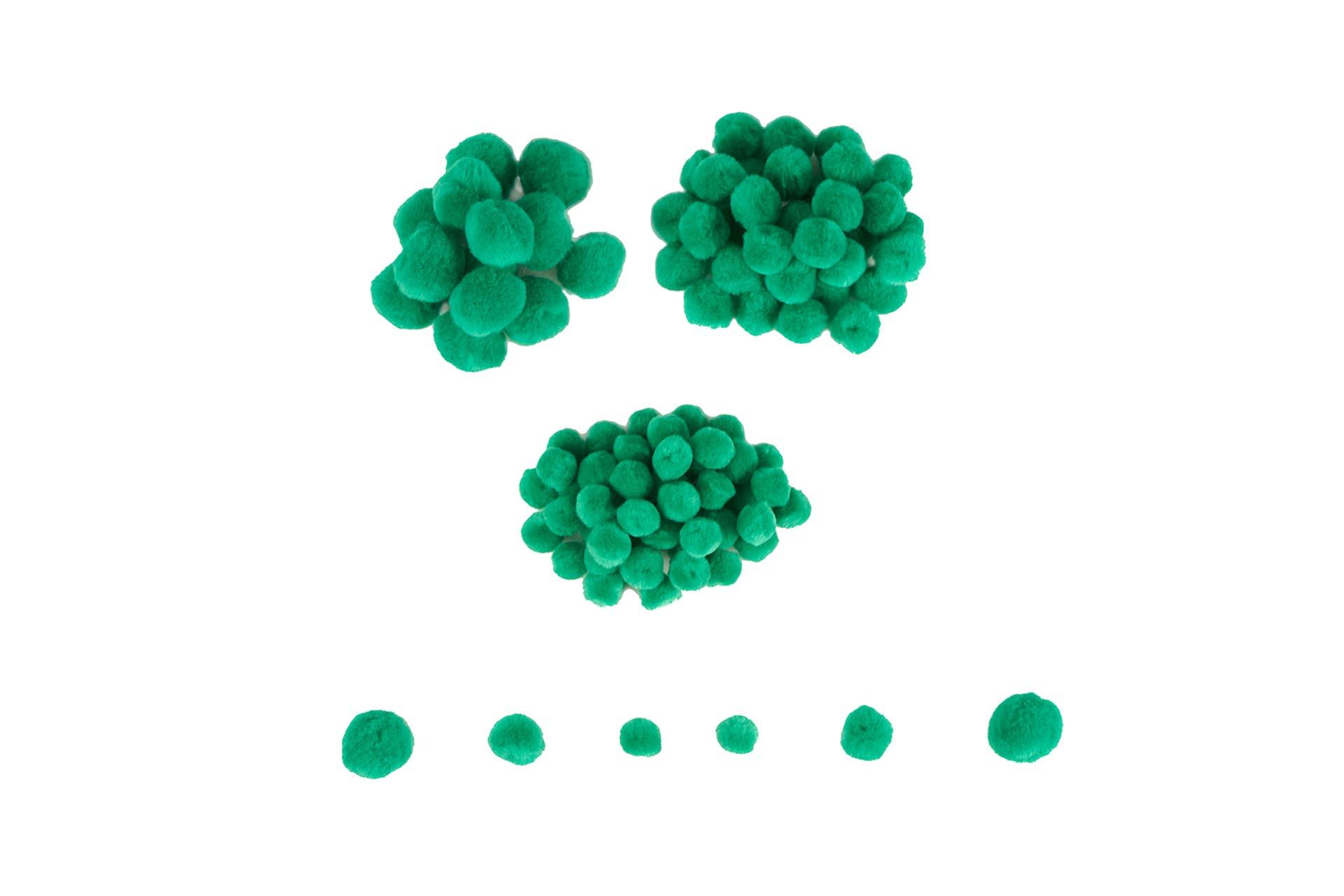 Mini pom-pom - 100 de piese - Verde imagine edituradiana.ro