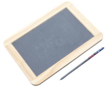 Mini tăbliță din piatră cu ramă din lemn și creion din piatră imagine edituradiana.ro