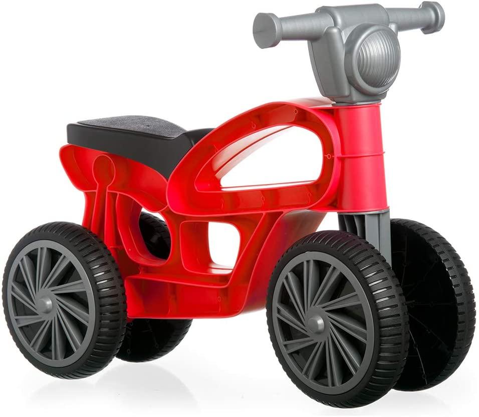 Mini bicicletă fără pedale, cu 4 roți - Roșu imagine edituradiana.ro