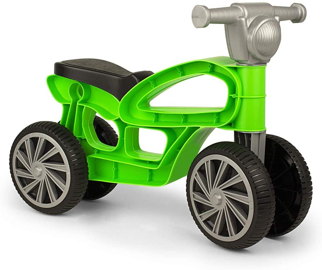 Mini bicicletă fără pedale, cu 4 roți - Verde imagine edituradiana.ro