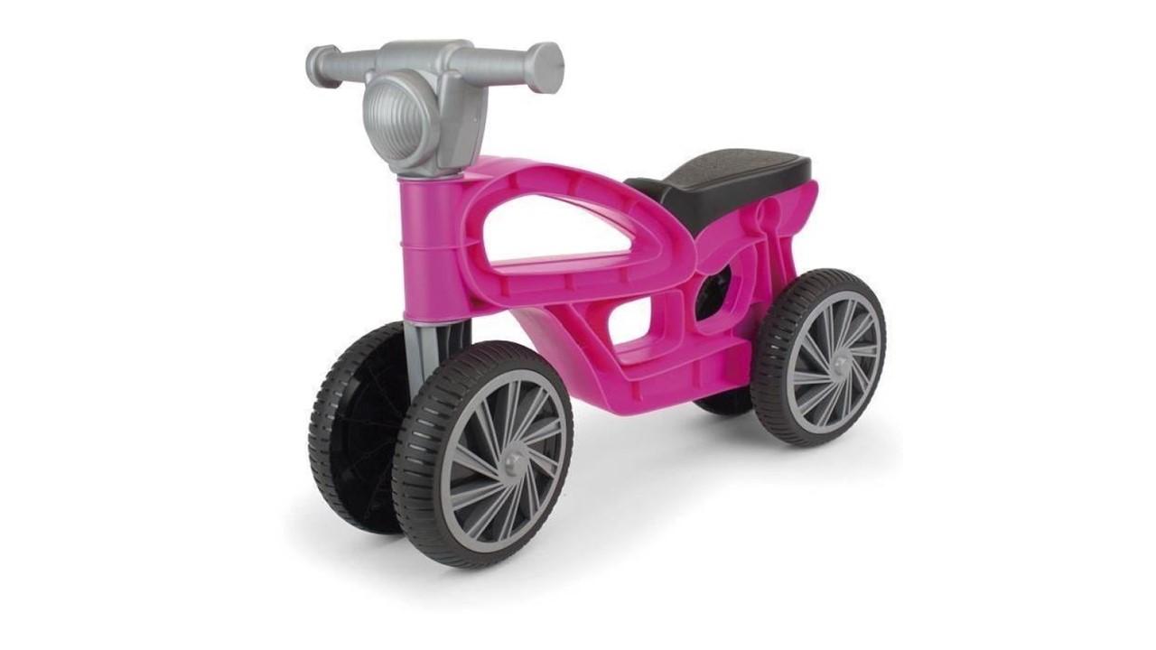 Mini bicicletă fără pedale, cu 4 roți - Violet imagine edituradiana.ro