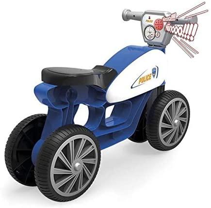 Mini bicicletă fără pedale, cu sunete (sirenă de poliție) și 4 roți - Albastru imagine edituradiana.ro