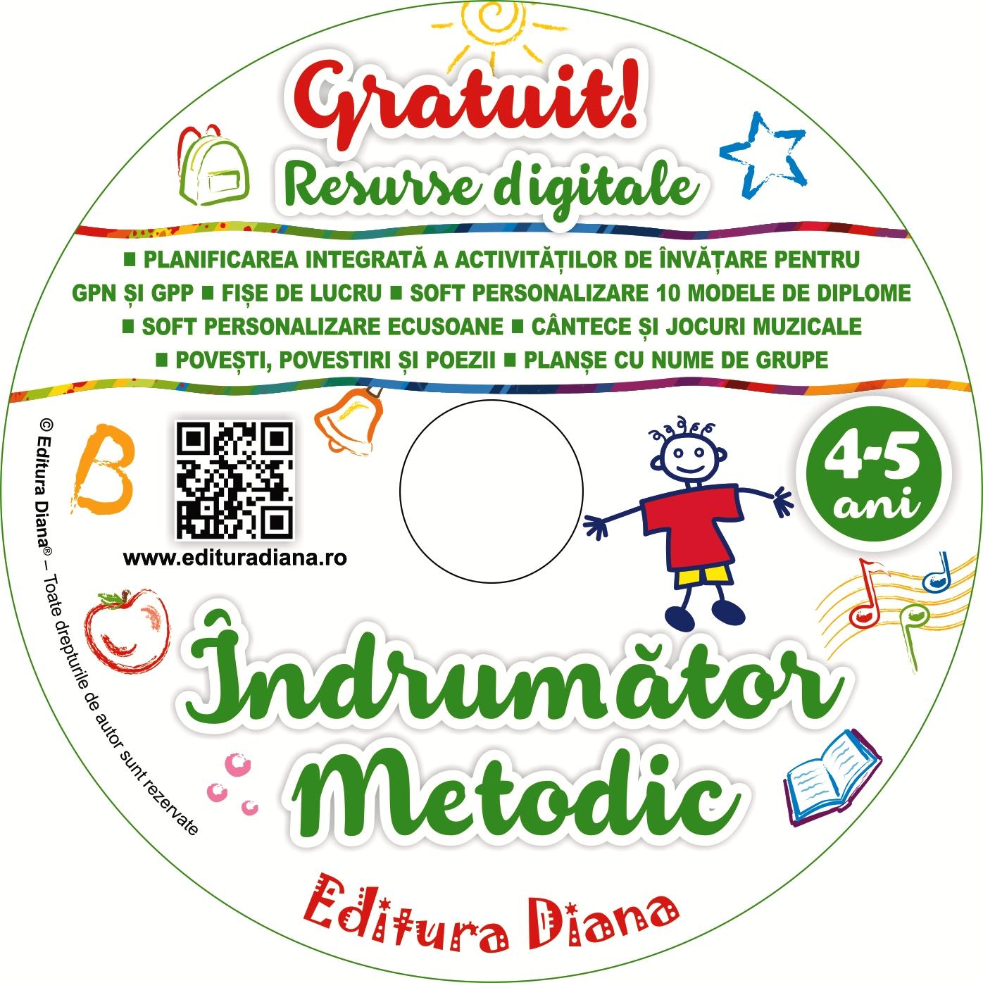 Îndrumător metodic 4-5 ani imagine edituradiana.ro