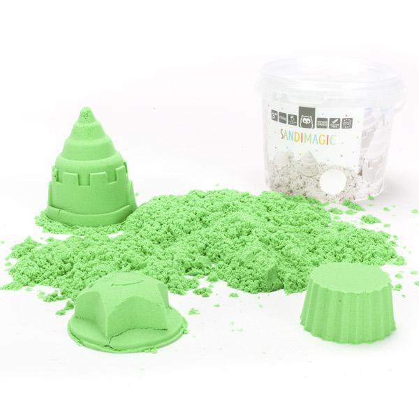 Nisip kinetic verde (750 g.) imagine edituradiana.ro