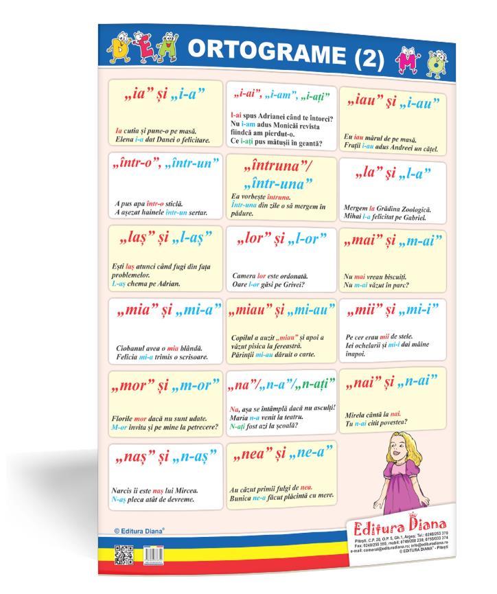 Ortograme (2) - planșă 50x70 - Proiecte Tematice imagine edituradiana.ro