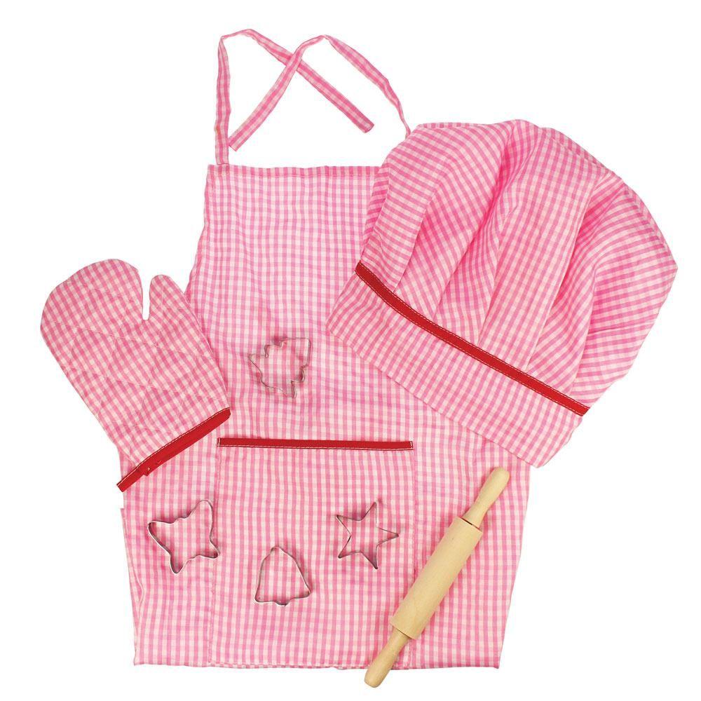 Șortuleț și accesorii roz pentru micuțele gospodine imagine edituradiana.ro