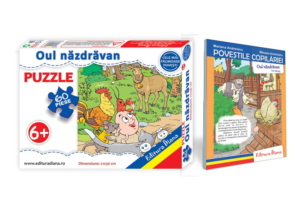 Oul năzdrăvan - Set Puzzle + Carte tip acordeon imagine edituradiana.ro