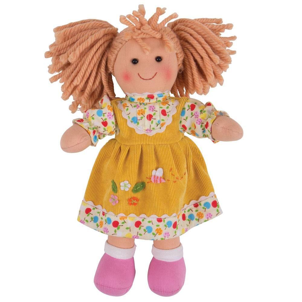 Păpușă Daisy cu păr blond și rochie galbenă (28 cm) imagine edituradiana.ro
