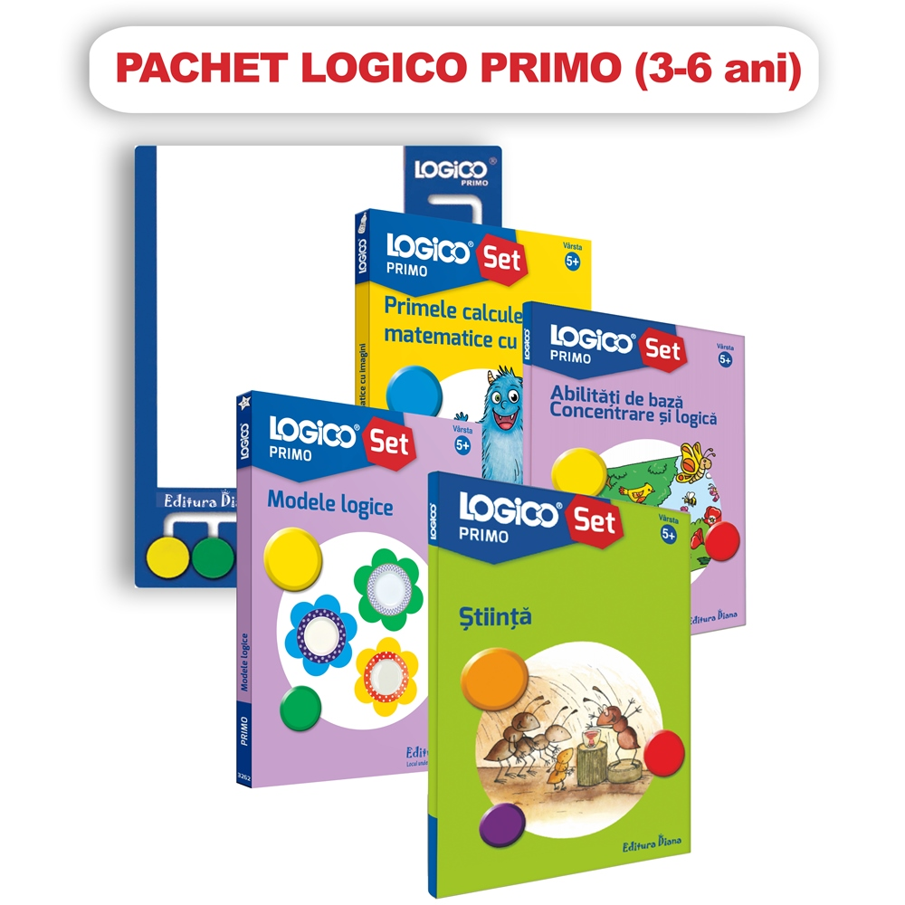 Pachet Logico Primo 3 - 6 ani imagine edituradiana.ro