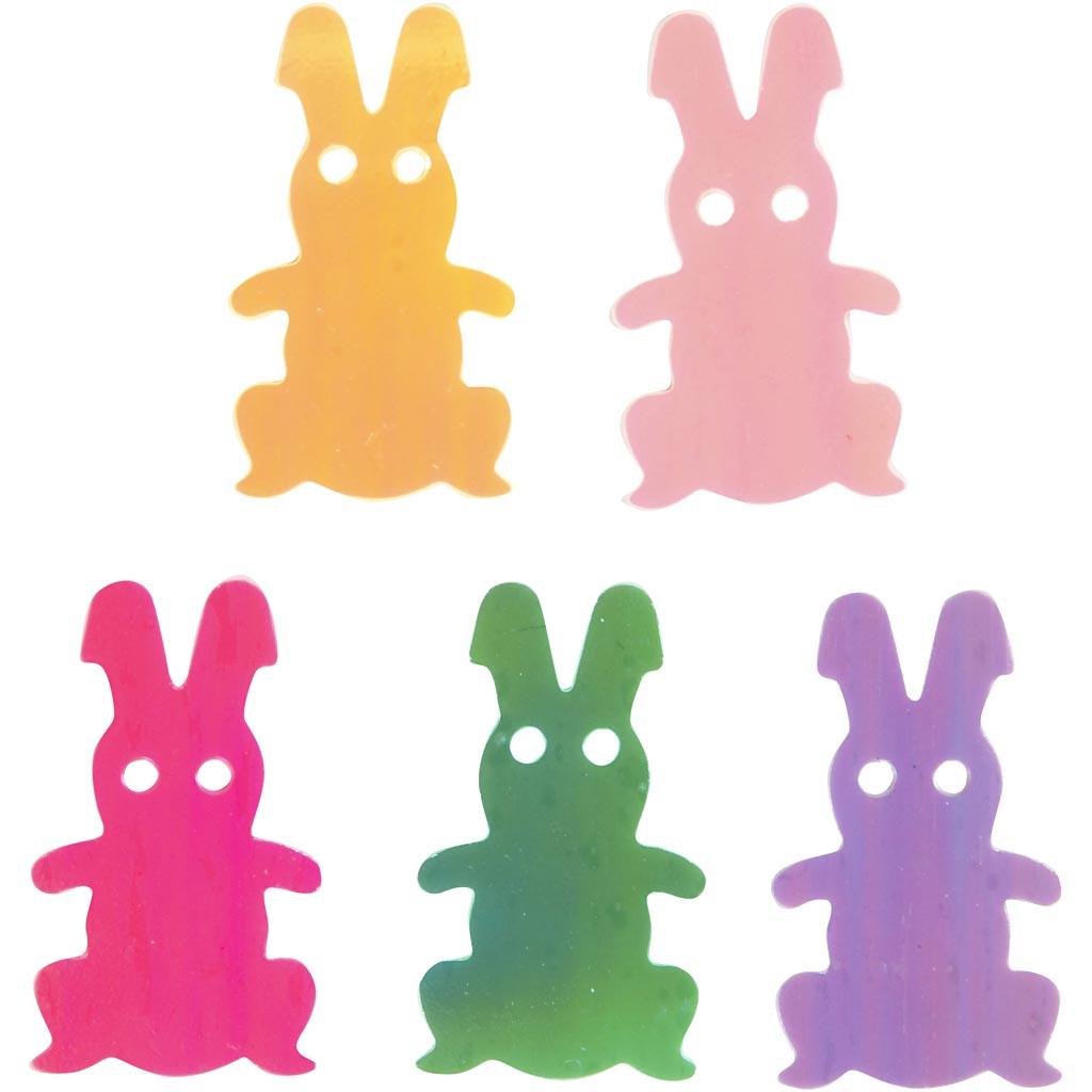 Paiete colorate în formă de iepurași, 2 x 1,2 cm imagine edituradiana.ro