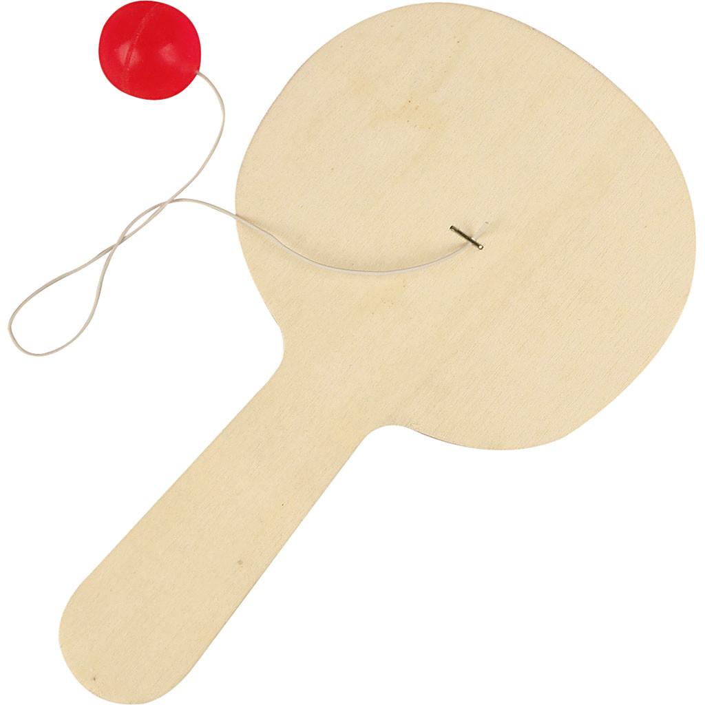 Paletă din lemn cu minge atașată imagine edituradiana.ro
