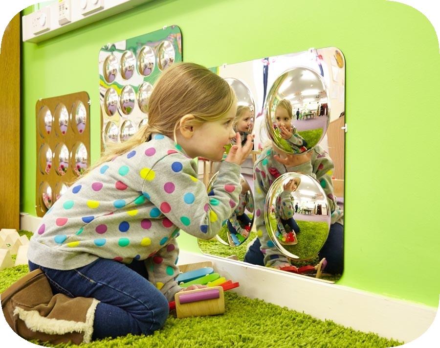 Panou cu 4 oglinzi acrilice convexe imagine edituradiana.ro