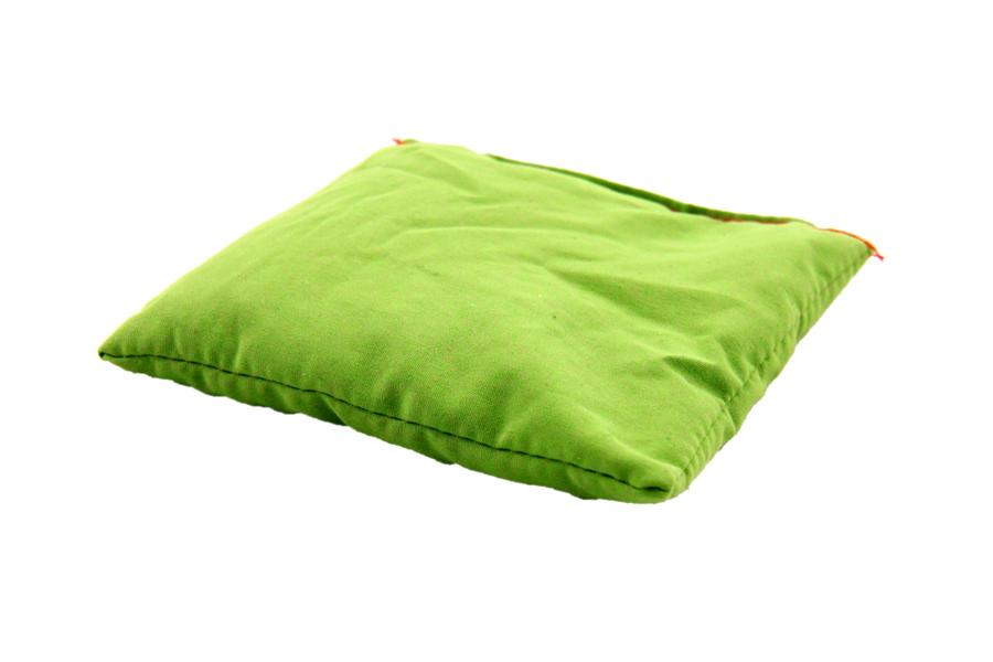 Pernuță verde cu granule de polistiren, 10 x 10 cm imagine edituradiana.ro