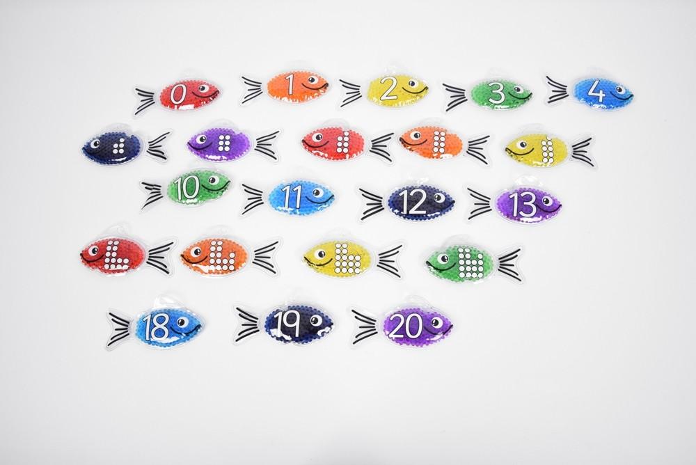 Peștișori tactili cu numere imagine edituradiana.ro