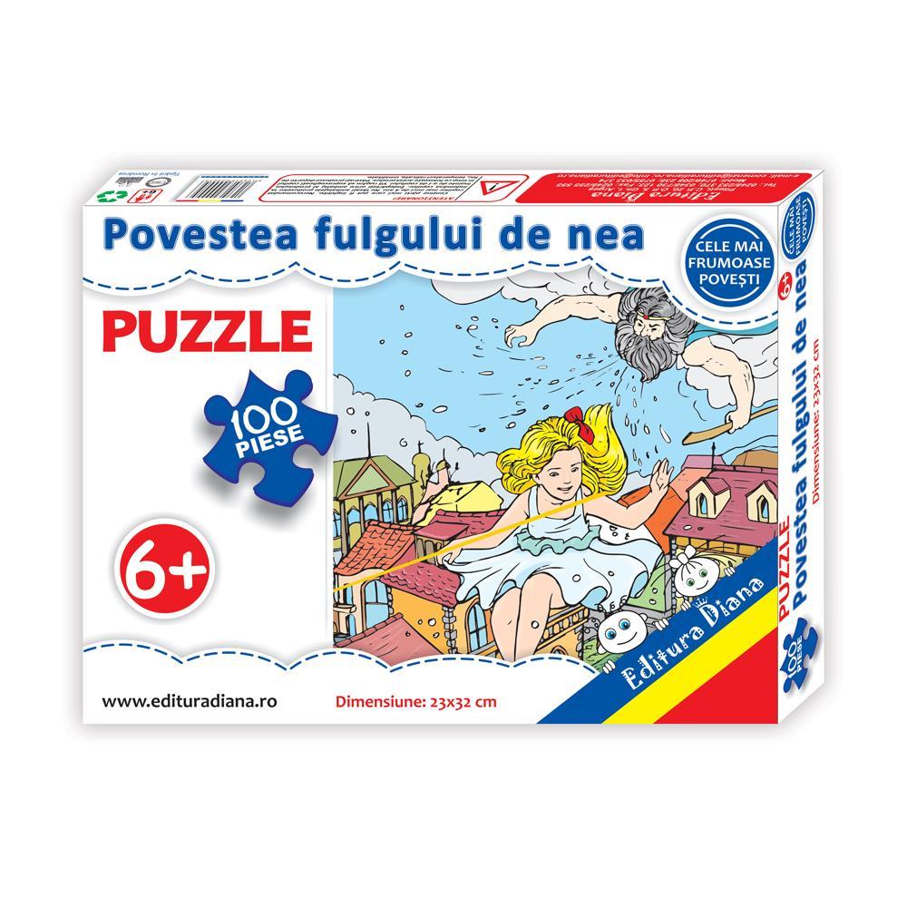 Povestea fulgului de nea - Puzzle 100 piese imagine edituradiana.ro