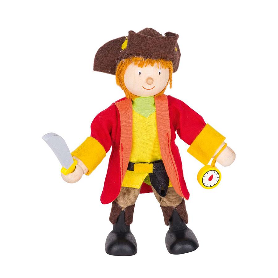 Păpușă flexibilă - Căpitanul pirat imagine edituradiana.ro