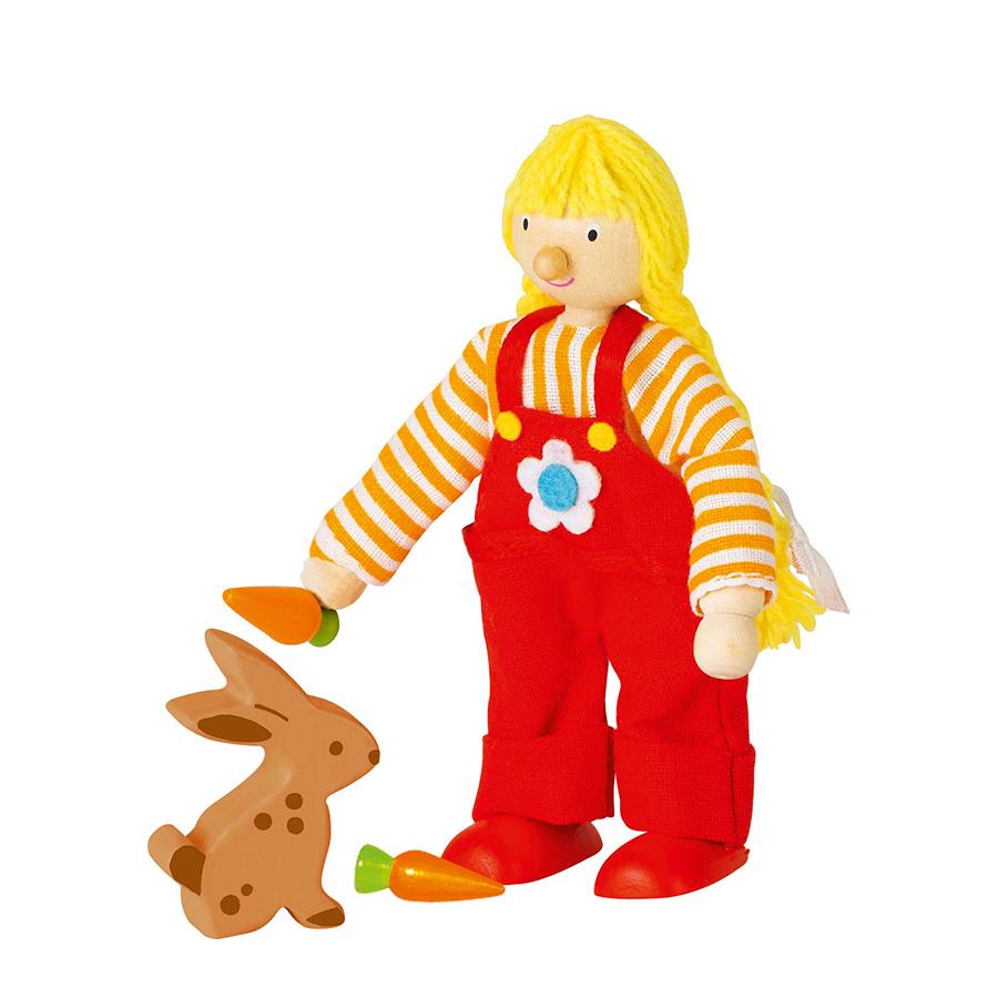 Păpușă flexibilă - Fetița de la fermă imagine edituradiana.ro