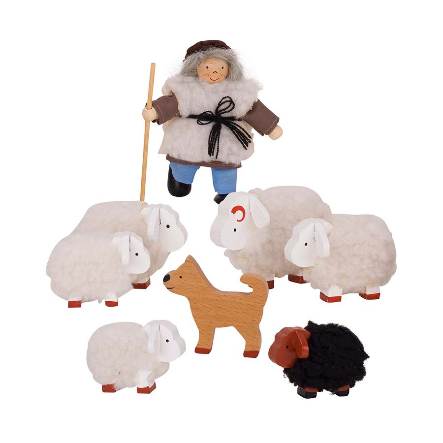 Păpuși flexibile - Păstor cu oi imagine edituradiana.ro