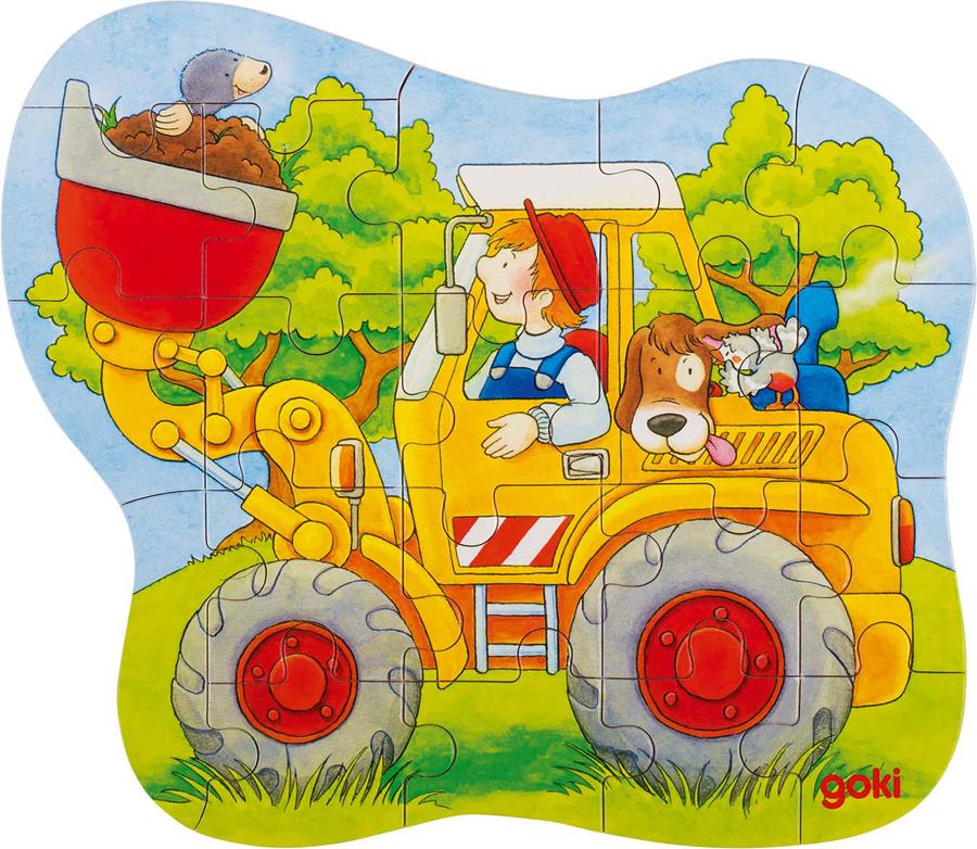 Puzzle contur - Tractor. Excavator. Pompieri imagine edituradiana.ro